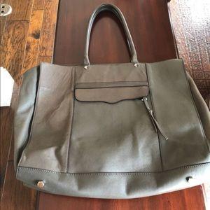 Rebecca Minkoff Grey Leather MAB Tote